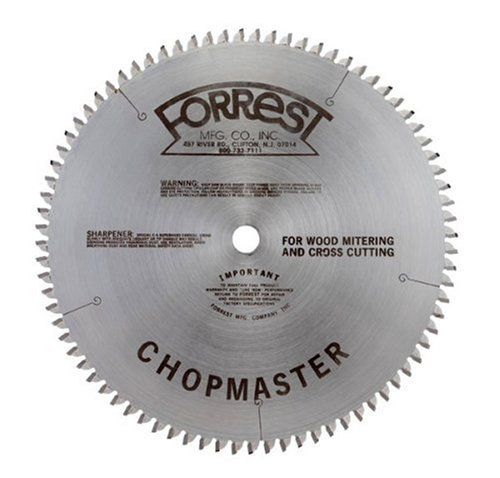 Forrest CM10806105 Chopmaster 10-Inch 80 Tooth ATBR Miter and Radial Saw Blade