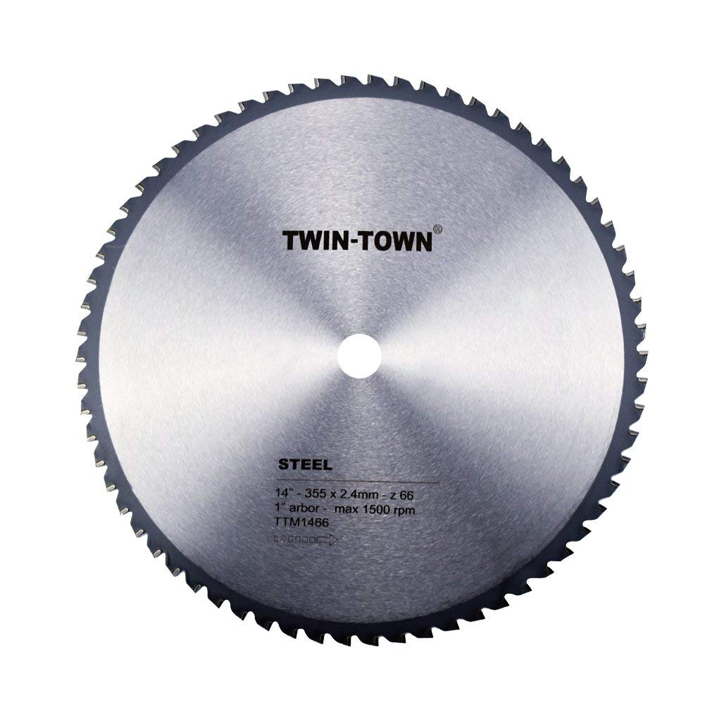 TWIN-TOWN 14-Inch 66 Tooth Steel and Ferrous Metal Saw Blade
